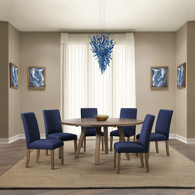 Leyton 7 Piece Square To Round Dining Set My Online Store Dba